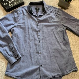 H&M Slim Fit Easy Iron Men's Shirt Button Down